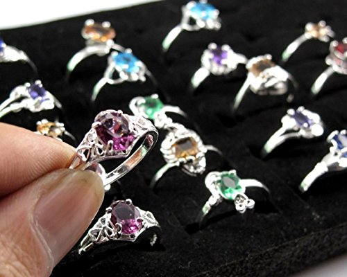 Wholesale 10pcs/lot Fashion Women Jewelry 925 Silver Rings Size 6-9 Mixed Color LOVE STORY