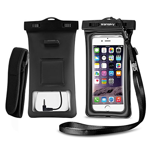 Vansky Floatable Waterproof Phone Case, Waterproof Phone Pouch Dry Bag with Armband and Audio Jack for iPhone X, 8...