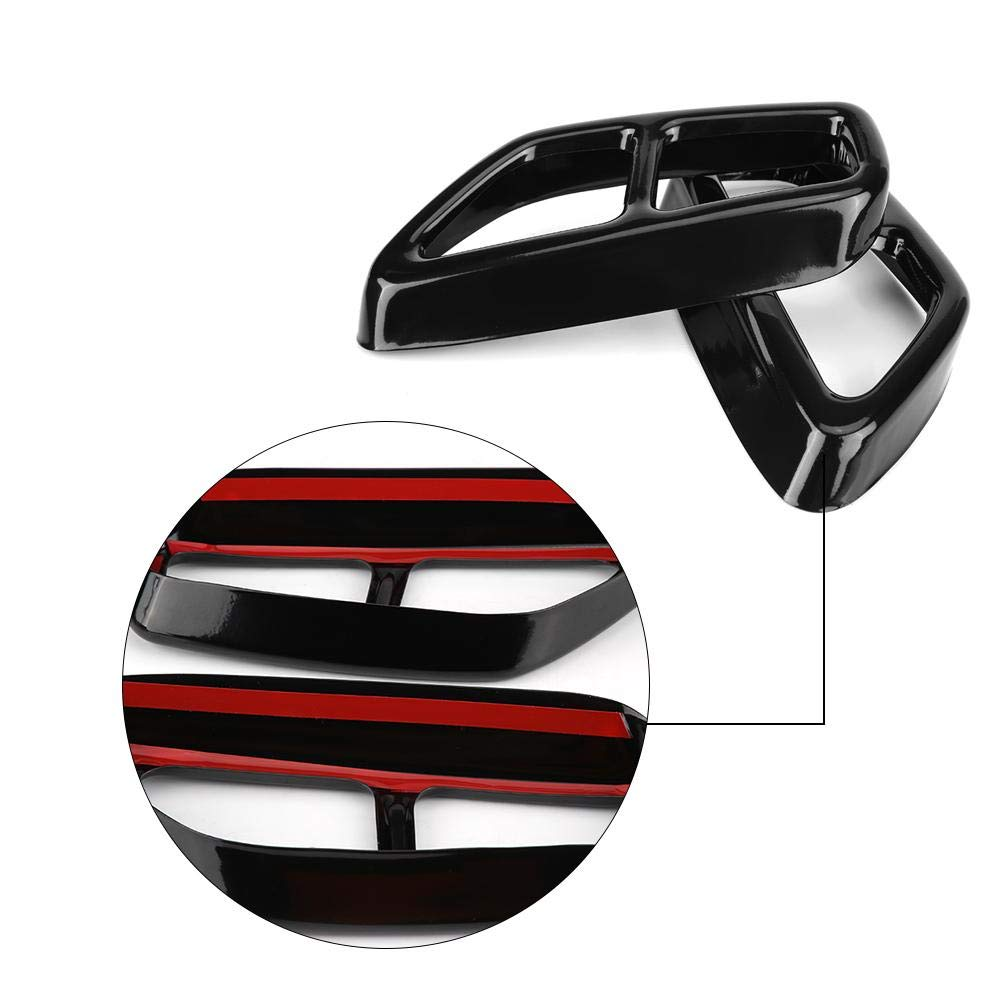 Gorgeri 2Pcs Car Stainless Steel Black Exhaust Tailpipe Cover Trim for 5 Series G30 2017-2018