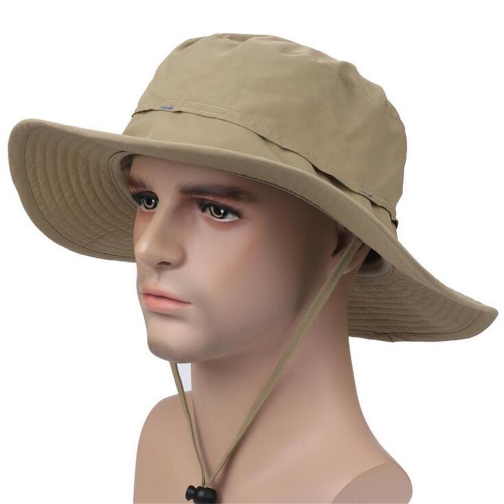 ISEYMI Outdoor Sun Hat Multifunctional Boonie Safari Hat Wide Brim Caps Sun Block Fishing Hat UPF50+ XYTSH004-DEEP GRAY