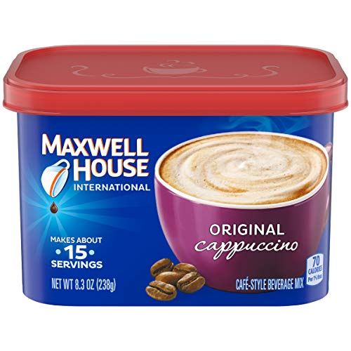 Maxwell House International Cafe Cappuccino Instant Coffee (8.3 oz Canisters, Pack of 4)