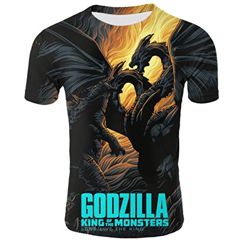 Shirts Short Sleeve Kids Tee Unisex Youth 3D Godzilla Poster 3D Printing T