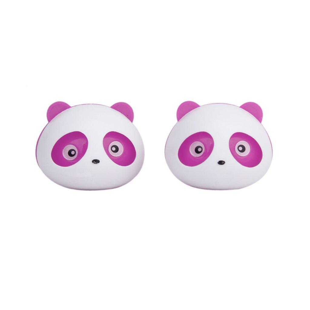 SODIAL(R) 2 Pcs Panda Assainisseur d'Air de Voiture Desodorisant Parfum avec Deux Clips rose 027390