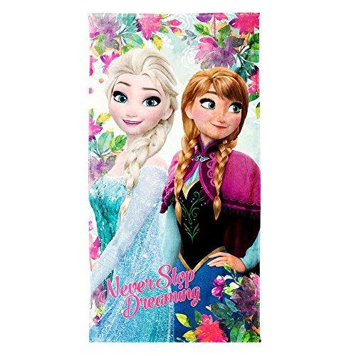 Disney Frozen Never Telo Mare Donna Ragazza/o Utile per Spiaggia, Piscina, Palestra
