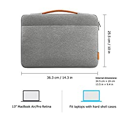 Inateck 13-13.3 Inch Macbook Air/ Macbook Pro / Pro Retina Sleeve Case Cover Protective Bag Ultrabook Netbook Carrying Protector Handbag for 13\
