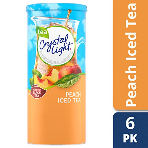 Crystal Light Peach Tea Drink Mix, 72 Pitcher Packets (12 Packs of 6) by Crystal Light (Image #3)