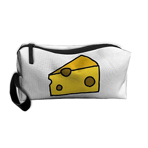 Cheese Cosmetic Bags Brush Pouch Makeup Bag Zipper Wallet Hangbag Pen Organizer Carry Case Wristlet Holder]()