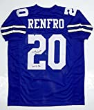 Mel Renfro Autographed White Pro Style Jersey with HOF - SGC Auth