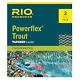 RIO Fly Fishing Leaders Powerflex Knotless 7.5Ft 3X Leaders 3 Pack Fishing Line, Clear For Sale