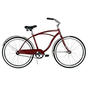 Huffy Mens Good Vibrations Bike, Maroon, 26-Inch