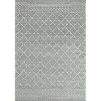 Farmhouse Rug 322 grey distressed vintage style new area rug large boho (5.1 x 7.1)