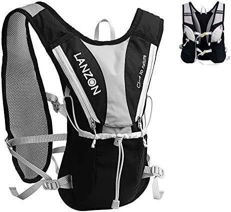 LANZON 2L Hydration Pack NO Bladder , Marathon Running Vest, Hiking Cycling Backpack
