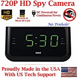 AES Spy Cameras ACRHD 720p Alarm Clock Radio HD Covert Hidden Nanny Camera Spy Gadget (Black)