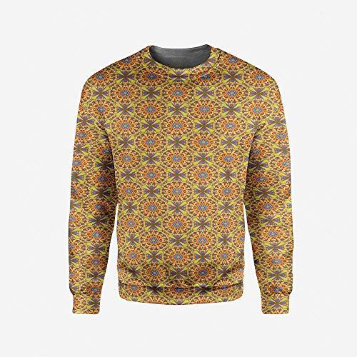 3D Print Men's Word Search Puzzle Crewneck Sweatshirt