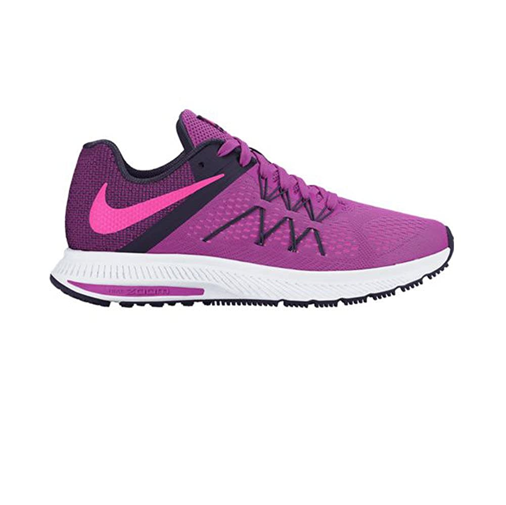 outlet store 39cd2 04d43 Nike New Women s Zoom Winflo 3 Running Shoe Pink Purple Dynasty 9. 5   Amazon.in  Shoes   Handbags