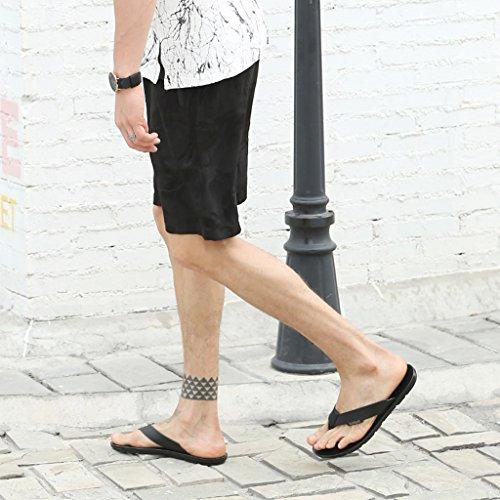 Casual Da us Black Sandali Antiscivolo Alla Pantofole In Cheng 5 Chi Scarpe Spiaggia Moda Electronic Pelle 6 Uomo color Fang Coreano Business Black Size Europe39 Fw00q1xZvS
