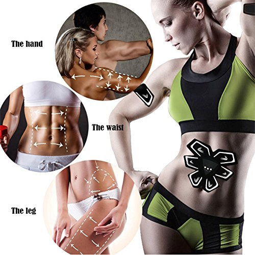 Recharge Abdominal Muscle Training Device Wireless Muscle Toning Belt Fitness Body Slimming Massager Home Fitness Training Gear - Suitable for Abdomen / Arm / shank / Thigh