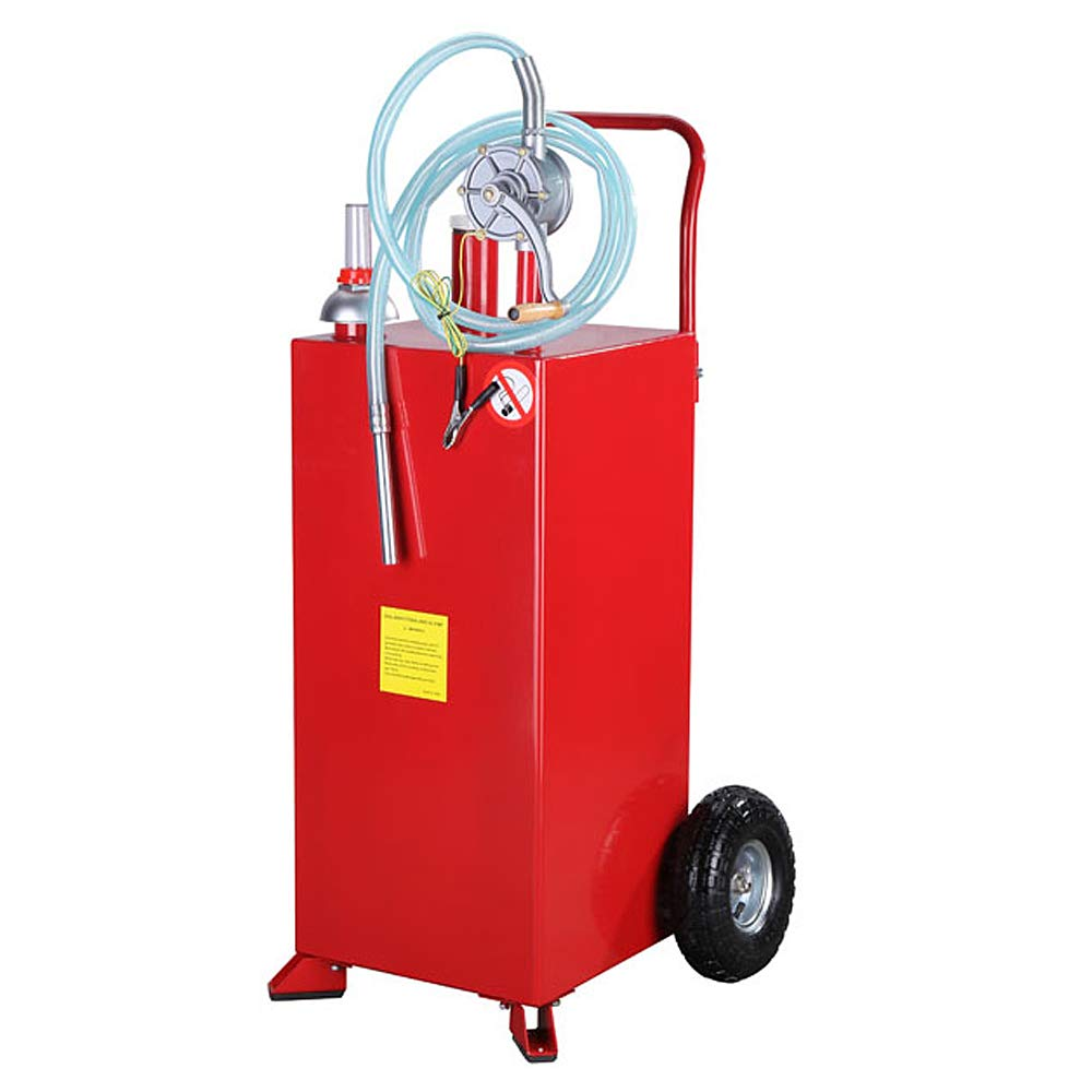 TRIL GEAR 30 Gallon Portable Fuel Transfer Gas Caddy Tank Storage Container Gasoline w/Rotary Pump 30-Gallons Capacity by TRIL GEAR