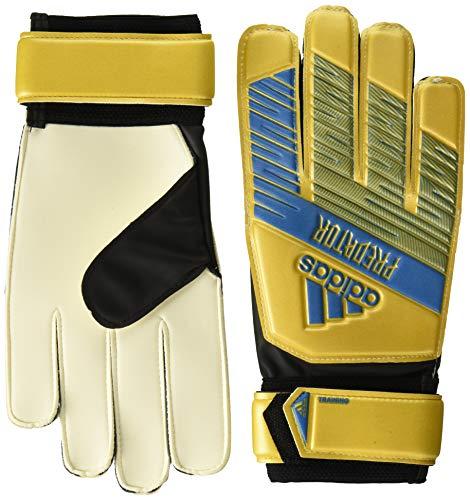 adidas Adult Predator Training Soccer Goalkeeper Gloves , Gold Metallic/Football Blue  , 6.5 (Predator Keeper Gloves)