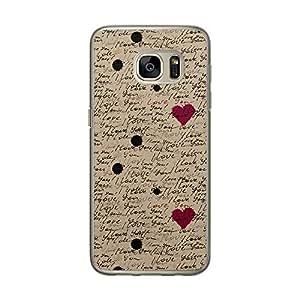Loud Universe Samsung Galaxy S7 Love Valentine Files Valentine 71 I Love You Printed Transparent Edge Case - Multi Color