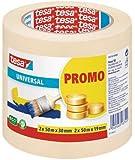 Tesa Promo Sparpack schildertape Universal 2x 50m: 19mm 2x 50m: 30mm