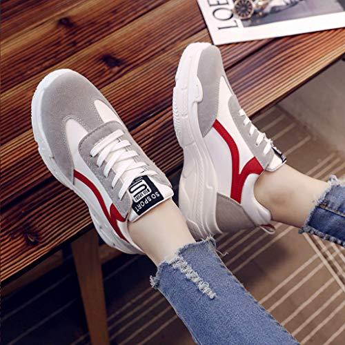 Casual Et En Femmes Chaussures Épaisses Étudiants Loisirs Course Semelles Rouge Polyvalentes À Sports Chaussures Sport mounter De Compétition Running Pour Blanches Basket Igw6I