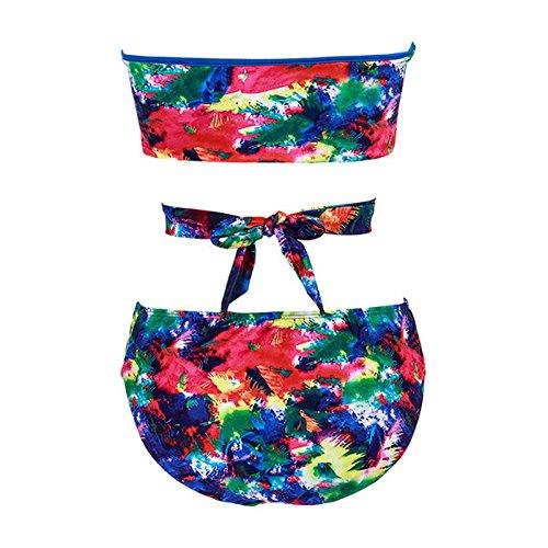 Faithtur Frauen-reizvolle Blumensommer -Verband-Push-up-Bikini-Badeanzug Bademode Bademode