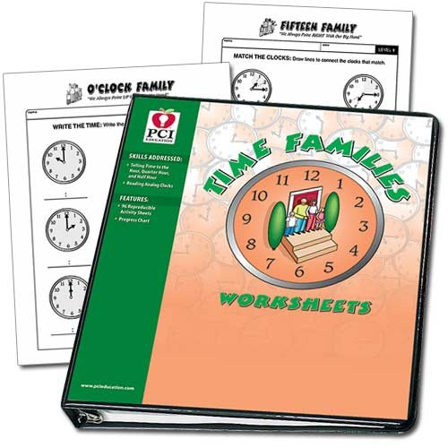 Time families worksheets