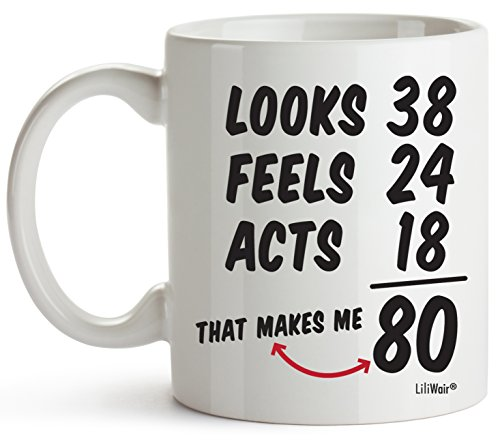 Amazon 80th Birthday Gifts For Women Eighty Years Old Men Gift Mugs Happy Funny 80 Mens Womens Womans Wifes Female Man Best Friend 1939 Mug Male Unique