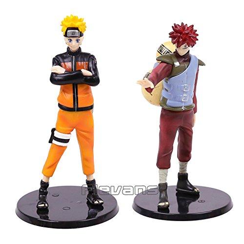 Naruto Shippuden Uzumaki Naruto & Gaara PVC Figures Collectible Model Toys 2pcs/set