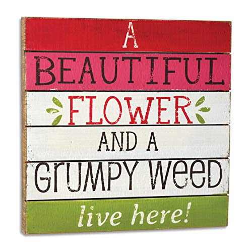 DEMDACO Seasons Beautiful Flower Grumpy Weed Wall Art