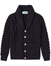 "<span class=""a-offscreen"">[Sponsored]</span>Scottish 100% Blue Faced Leicester Wool Cable Knit Shawl Cardigan"
