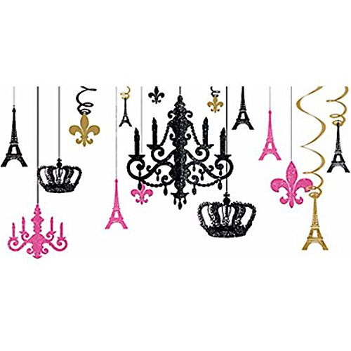 Bridal Shower 'A Day in Paris' Glitter Chandelier Decorating Kit (17pc)