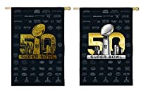 Team Sports America Super Bowl 50 Double Sided Glitter Garden Flag 12.5 x 18 inches