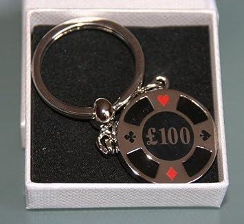 Amazon.com: Onyx Art 100 chip de póquer llavero – en caja de ...
