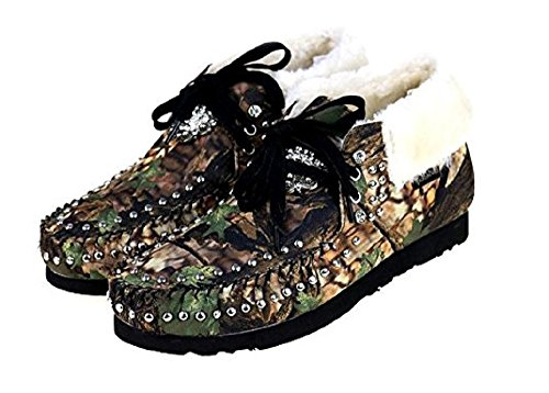 Ankle Camo Moccasins Rhinestone Concho Shoes West Winter Boots 9 JP Montana Bling xwR1OFn0qE
