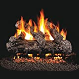 Peterson Real Fyre 18-inch Rustic Oak Gas Log Set With Vented Natural Gas G45 Burner - Manual Safety Pilot