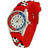 10X Bulk For School Reflex Time Teacher Boys Kids Red Football Watch REFK0008