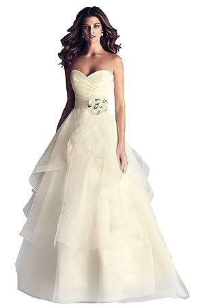 JoyVany Simple Wedding Dresses 2018 Romantic Ball Gown Pregnant ...