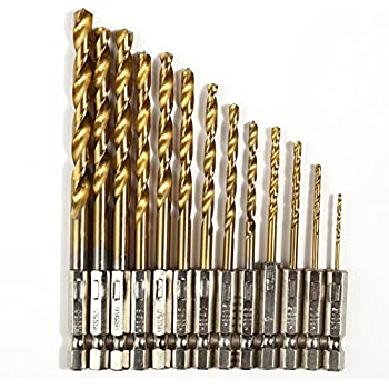 Jocestyle 13 Pcs 1.5~6.5mm Steel Hex Shank Quick Change Cobalt Drill Bit Set