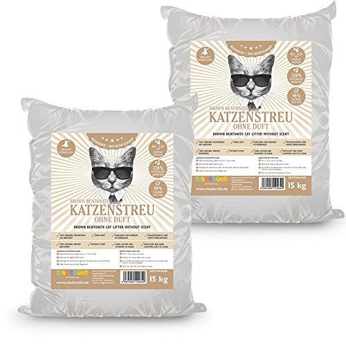 Rinderohr Brown Betonit Katzenstreu ohne Duft 30kg