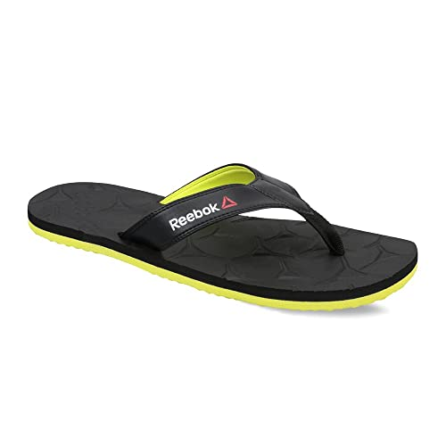 9a586f17d Reebok Men s Gradient Flip Iii Black and Solar Green Flip-Flops and House  Slippers - 10 UK India (44.5 EU)(11 US)  Buy Online at Low Prices in India  ...