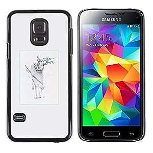 LECELL--Funda protectora / Cubierta / Piel For Samsung Galaxy S5 Mini, SM-G800 -- Monstruo peludo cuernos --