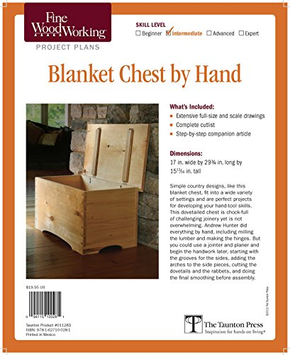 (Fine Woodworking's Blanket Chest by Hand Plan)