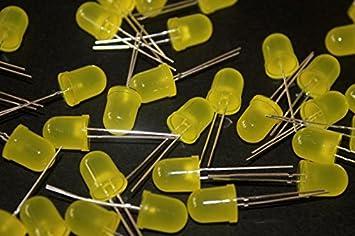 2 Mm 10 X Led Amarillo Amarillo difusa Lente