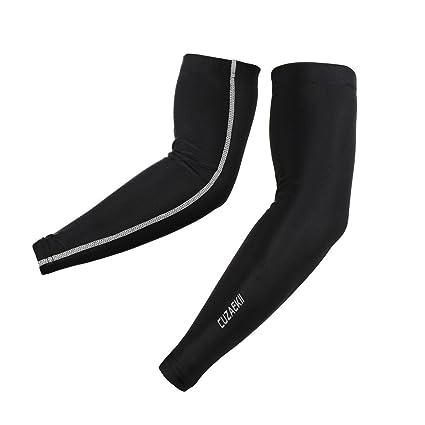 59c0378a31 Amazon.com : Cuzaekii Compression UV Protection Cycling Arm Warmers Running  Basketball Soccor Sleeves : Sports & Outdoors