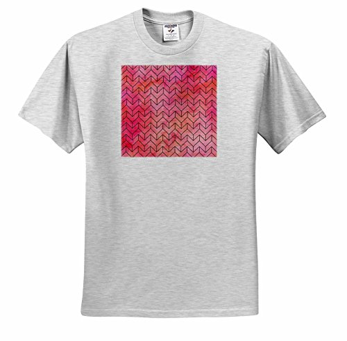 Price comparison product image Anne Marie Baugh - Watercolor - Pink and Orange Watercolor Geometric Arrows Pattern - T-Shirts - Youth Birch-Gray-T-Shirt Small(6-8) (ts_252809_28)