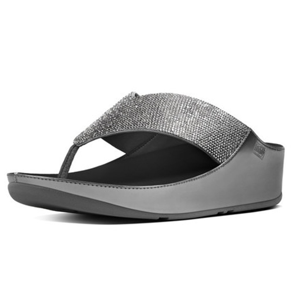 FitFlop Women's Crystall Sandals (Pewter,7B)