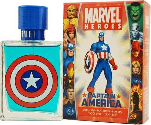 Captain America Cologne by Marvel Heroes for Men. Eau De Toilette Spray 3.3 Oz / 100 Ml. 150382