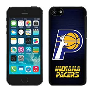 New Custom Design Cover Case For iPhone 5C Generation Indiana Pacers 5 Black Phone Case